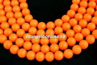 Perle Swarovski, neon orange, 14mm - x2