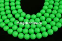 Perle Swarovski, neon green, 12mm - x2