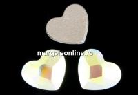 Swarovski, cabochon inima, aurore boreale, 3.6mm - x4