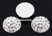 Swarovski, cabochon pave, crystal, 12mm - x1
