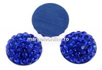 Swarovski, cabochon pave, majestic blue, 8mm - x1