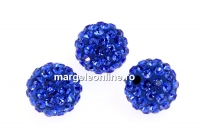 Swarovski, margele pave, majestic blue, 10mm - x1