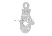 Pandantiv argint 925, manusa Craciun, 13mm  - x1