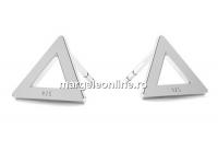 Tortite cercei triunghi, argint 925 - x1per