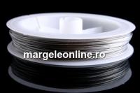 Sarma siliconata, argintiu,  0.60mm - 50m