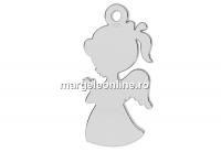 Pandantiv argint 925, fetita ingeras, 17x8mm  - x1