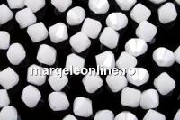 Swarovski, margele bicone, white alabaster, 3mm - x20