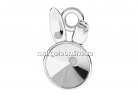 Baza pandantiv argint 925, Iepuras, pentru rivoli 6mm - x1