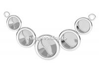 Baza link argint 925, rivoli 6,8,10mm - x1