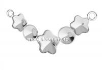 Baza link argint 925, 3 fancy floare si 2 rivoli  - x1
