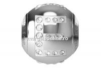 Swarovski, becharmed, litera E cu cristale, 12mm - x1