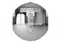 Swarovski, becharmed, litera T cu cristale, 12mm - x1