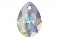 Swarovski, pandantiv picatura, aurore boreale, 11.5mm - x2