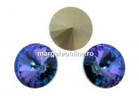 Swarovski, rivoli, aquamarine vitrail light, 10mm - x2