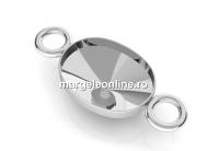 Baza link ag925, oval, pt. fancy rivoli 4122 de 8x6mm  - x1