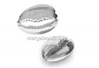 Margele scoica, argint 925, 15mm  - x1