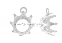 Baza pandantiv, chaton 6mm, argint 925 - x1