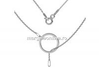 Lant, baza colier , argint 925 placat cu rodiu, 47cm - x1