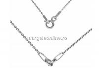 Lant pentru linkuri argint 925 placat cu rodiu, zale incluse, 45cm - x1