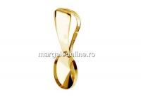 Baza pandantiv ag925 pl cu aur, oval, pt. fancy 4122 de 8x6mm  - x1