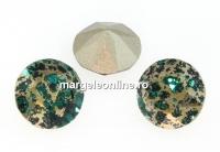 Swarovski, chaton SS39, emerald gold patina, 8mm - x2