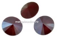 Swarovski, rivoli, dark red, 6mm - x2