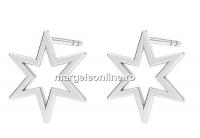 Tortite cercei steluta, argint 925 - x1per