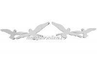 Tortite cercei porumbei, argint 925 - x1per