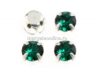 Swarovski, chaton montees emerald, 4mm - x20