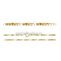 Lant zar rasucit, argint 925 placat cu aur, 45cm - x1