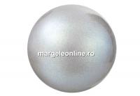 Perle Preciosa, pearlescent grey, 6mm - x100
