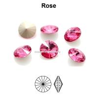 Preciosa rivoli, rose, 6mm - x2
