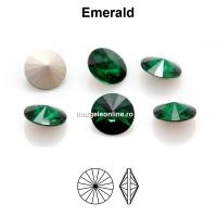 Preciosa rivoli, emerald, 6mm - x2