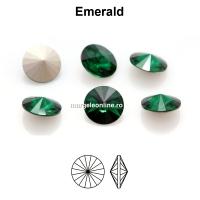 Preciosa rivoli, emerald, 8mm - x2