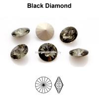 Preciosa rivoli, black diamond, 8mm - x2