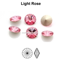 Preciosa rivoli, light rose, 10mm - x2