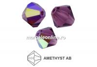 Preciosa, margele bicone, amethyst AB, 4mm - x40