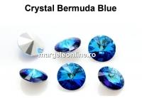 Rivoli Preciosa, bermuda blue, 10mm - x2