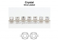 Preciosa, lant cu cristale de 4mm, crystal - x20cm