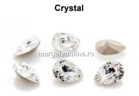 Preciosa, fancy picatura, crystal, 14x10mm - x1
