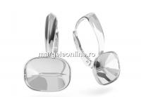 Tortite cercei argint 925, pt Swarovski 4568 de 14x10mm - x1per