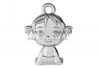 Pandantiv fetita, argint 925, 16mm  - x1