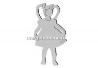 Pandantiv fetita, argint 925, 15mm  - x1