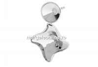 Baza cercei argint 925, rivoli 6mm si fancy twister 10.5mm - x1per