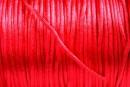 Snur satin, rosu, pentru bratara, breloc sau amuleta, 1mm - 5m