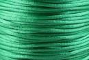Snur satin, verde intens, 2mm - 5m