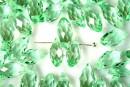 Cristal, brioleta, verde transparent, 12.5x5.5mm - x5