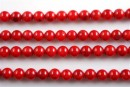 Coral, red, round, 8.5mm