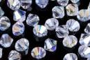 Swarovski, margele bicone, crystal aurore boreale, 4mm - x20