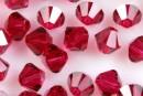 Swarovski, margele bicone, ruby, 4mm - x20